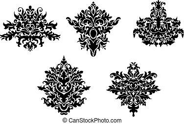 Los elementos decorativos de damasco