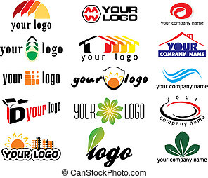 Los elementos del logotipo del vector