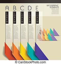 Los elementos gráficos de barras abstractas del vector