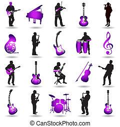 Los elementos musicales del vector