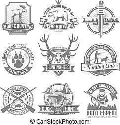 Los emblemas de la caza negra
