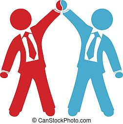 Los empresarios celebran el éxito del acuerdo