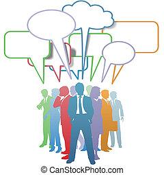Los empresarios colorean el lenguaje de la comunicación