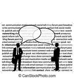 Los empresarios comparten las charlas de la red social