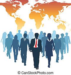 Los empresarios de recursos humanos trabajan en equipo