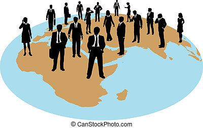 Los empresarios de todo el mundo trabajan con recursos