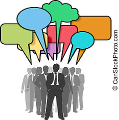 Los empresarios hablan burbujas