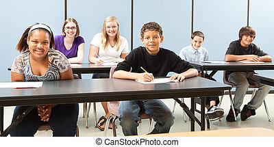 Los escolares tienen un estandarte de diversidad