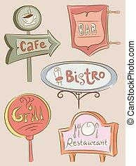 Los establecimientos de alimentos firman tableros
