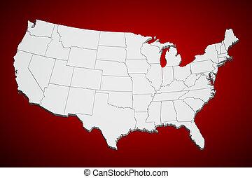 Los Estados Unidos hacen un mapa rojo