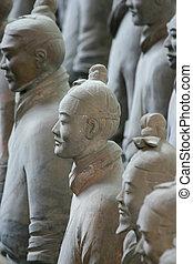 Los famosos guerreros de Terracotta en Xian - China