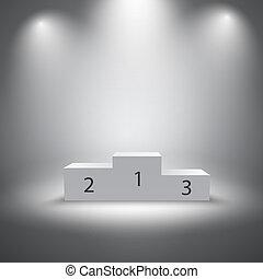 Los ganadores del deporte iluminados podio