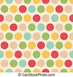 Los grunge sin semen rodean los puntos polka