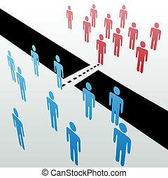 Los grupos separados se unen a la fusión