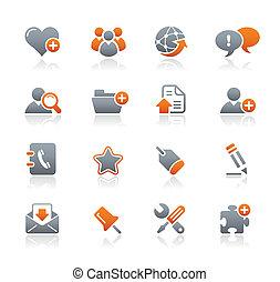 Los iconos de Blog e Internet