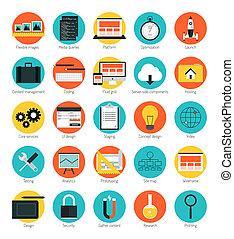Los iconos de diseño de la web responden