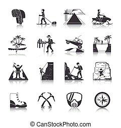 Los iconos de expedición son negros