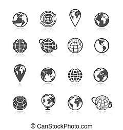 Los iconos de Globe Earth