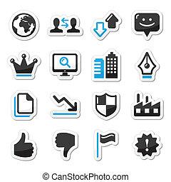 Los iconos de Internet están listos, vector