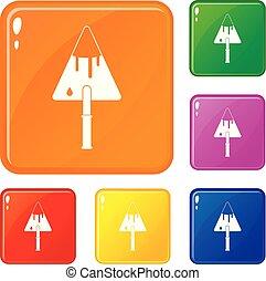 Los iconos de la construcción marcan el color vectorial