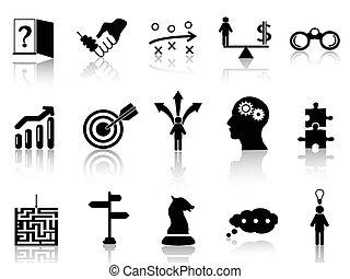 Los iconos de la estrategia de negocios