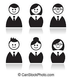 Los iconos de la gente de negocios, avatares