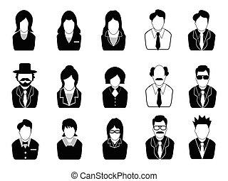Los iconos de la gente de negocios