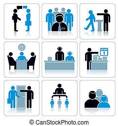 Los iconos de la gente de negocios. Vector listo