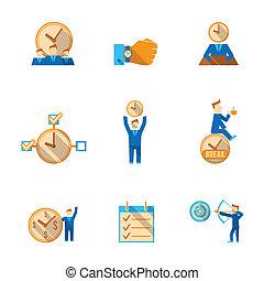 Los iconos de la gestión del tiempo