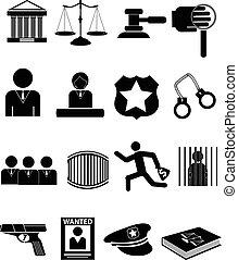 Los iconos de la justicia de la ley