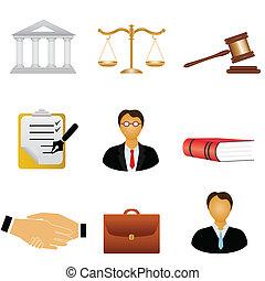 Los iconos de la justicia y la ley