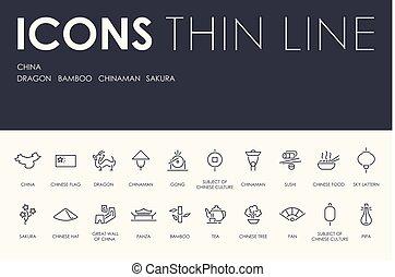 Los iconos de la línea china