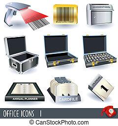 Los iconos de la oficina marcan 1