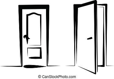 Los iconos de la puerta