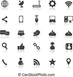 Los iconos de la red reflejan el fondo blanco
