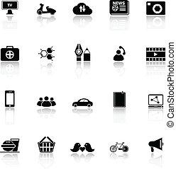 Los iconos de la red social reflejan el fondo blanco