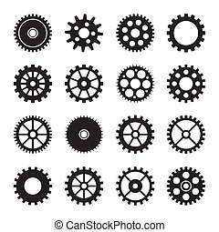 Los iconos de la rueda de engranaje marcan 2