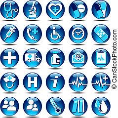 Los iconos de la salud brillan