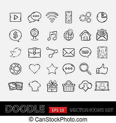 Los iconos de las aplicaciones móviles de Doodle