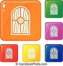 Los iconos de las ventanas arqueadas marcan el color vector