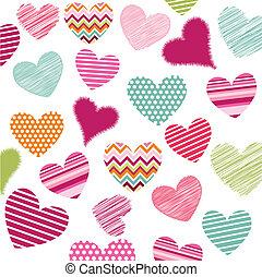 Los iconos de los corazones Valentine