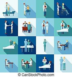 Los iconos de los médicos