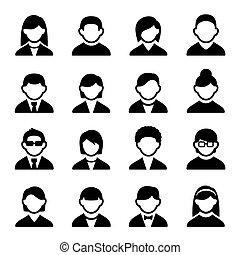 Los iconos de los usuarios marcan 2