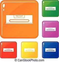 Los iconos de nivel de construcción marcan el color vectorial