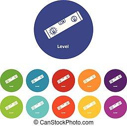 Los iconos de nivel marcan el color vector