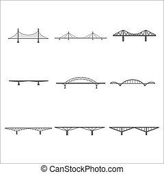 Los iconos de puentes listos