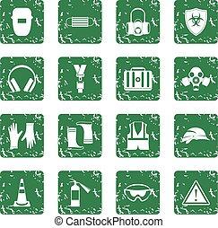 Los iconos de seguridad ponen grunge