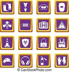 Los iconos de seguridad se ponen morados