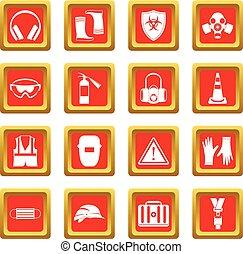 Los iconos de seguridad se ponen rojos