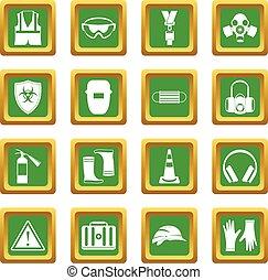 Los iconos de seguridad se ponen verdes